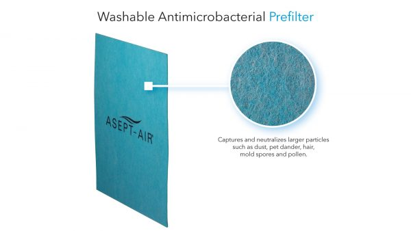 Washable Antimicrobacterial Prefilter - Life Cell 1550 UV